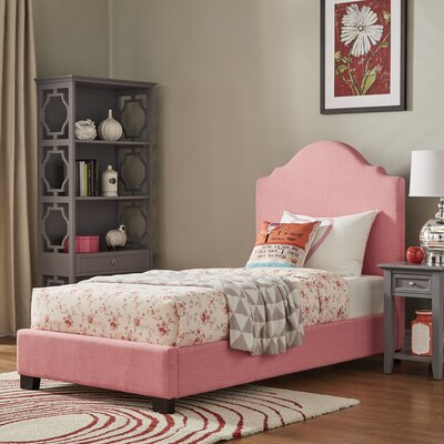 Durden Twin Panel Bed Fabric Color: Strawberry Ice