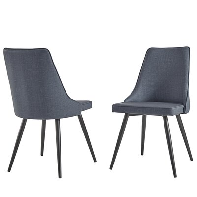 Yandell Dining Chair Upholstery Color: Dark Gray