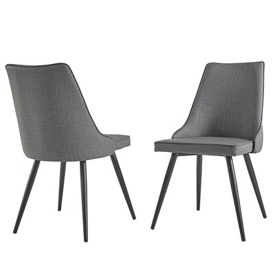 Yandell Dining Chair Upholstery Color: Gray