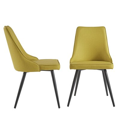 Yandell Dining Chair Upholstery Color: Yellow