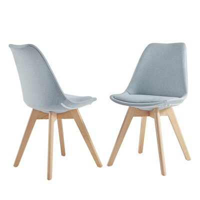Yarber Upholstered Dining Chair Upholstery Color: Hazy Blue