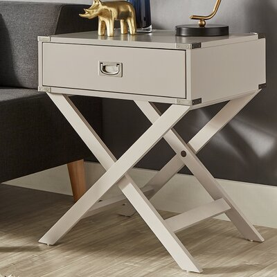 Marotta 1 Drawer End Table Color: Silver Birch
