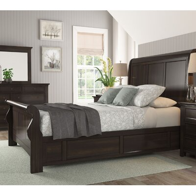 Sefton Queen Sleigh Bed Color: Black