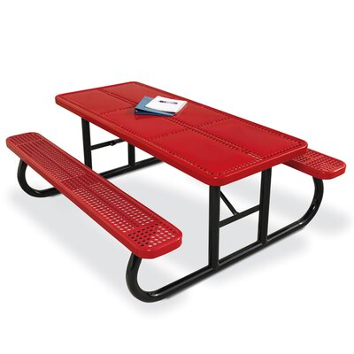 Picnic Table Finish: Red