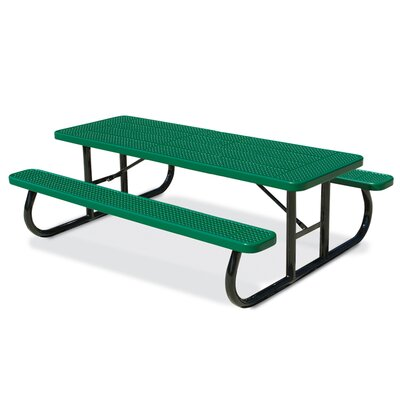 Picnic Table Finish: Green, Table Size: 64.25 W x 96.25 D