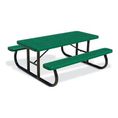 Picnic Table Finish: Red, Table Size: 64.25 W x 96.25 D