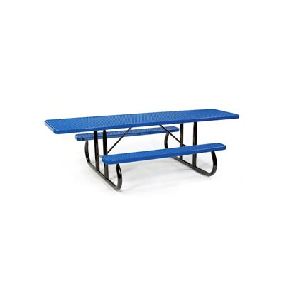 Picnic Table Finish: Black, Table Size: 64.25 W x 113.88 L