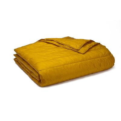 Ultra Light Down Alternative Indoor/Outdoor Nlon Blanket Size: Full/Queen, Color: Gold