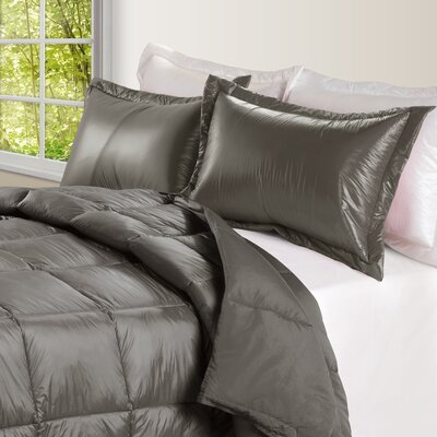 Ultra Light Nylon and Microfiber Down Alternative Indoor/Outdoor Comforter Size: King, Color: Taupe