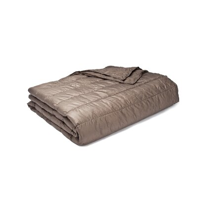 Ultra Light Down Alternative Indoor/Outdoor Nlon Blanket Size: Twin, Color: Taupe