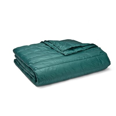 Ultra Light Down Alternative Indoor/Outdoor Nlon Blanket Size: Full/Queen, Color: Peacock