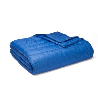 Ultra Light Down Alternative Indoor/Outdoor Nlon Blanket Size: Twin, Color: Electric Blue
