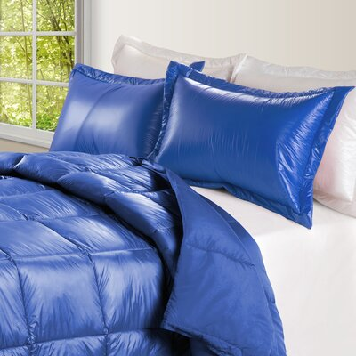 Ultra Light Nylon and Microfiber Down Alternative Indoor/Outdoor Comforter Size: King, Color: Electric Blue