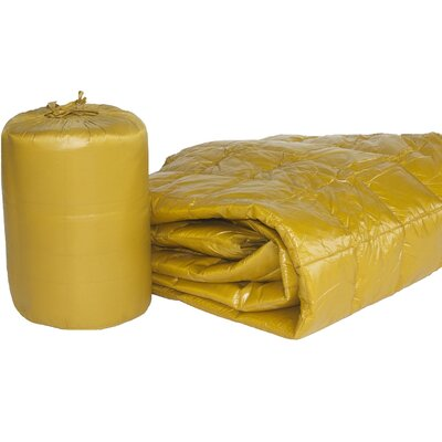 Ultra Light Indoor/Outdoor with Compact Travel Bag Throw Color: Gold
