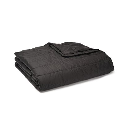Ultra Light Down Alternative Indoor/Outdoor Nlon Blanket Color: Black, Size: King