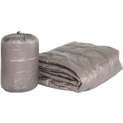 Ultra Light Indoor/Outdoor with Compact Travel Bag Throw Color: Taupe
