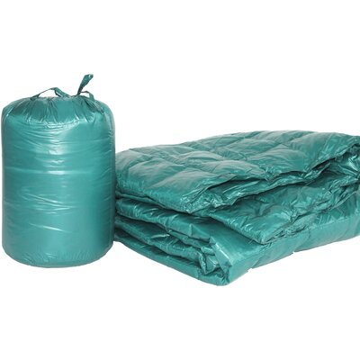Ultra Light Indoor/Outdoor with Compact Travel Bag Throw Color: Peacock