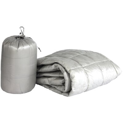 Ultra Light Indoor/Outdoor with Compact Travel Bag Throw Color: Pewter