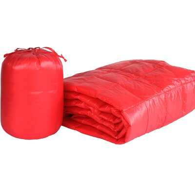 Ultra Light Indoor/Outdoor with Compact Travel Bag Throw Color: Coral