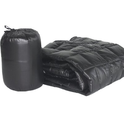 Ultra Light Indoor/Outdoor with Compact Travel Bag Throw Color: Black