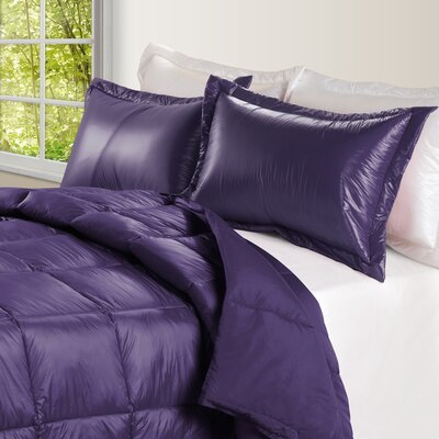 Ultra Light Nylon and Microfiber Down Alternative Indoor/Outdoor Comforter Size: Twin, Color: Purple