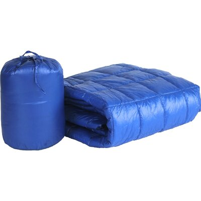 Ultra Light Indoor/Outdoor with Compact Travel Bag Throw Color: Electric Blue