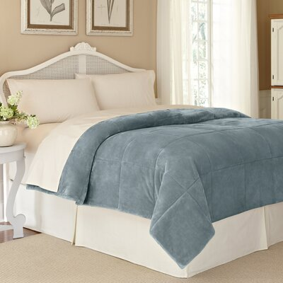 Vellux Plush Lux Blanket Color: Trooper Blue, Size: Twin