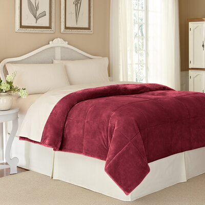 Vellux Plush Lux Blanket Color: Burgundy, Size: Twin