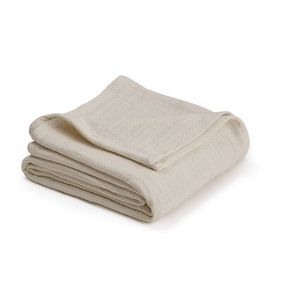 Vellux Woven Cotton Blanket Color: Ecru, Size: Full/Queen