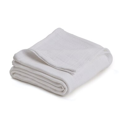 Vellux Woven Cotton Blanket Size: Twin, Color: White