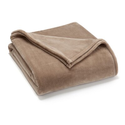 Vellux Sheared Blanket Color: Desert Taupe, Size: King