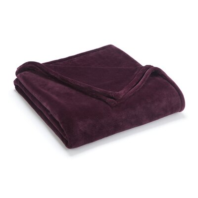 Vellux Sheared Blanket Color: Fig, Size: Full/Queen