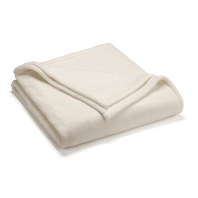 Vellux Sheared Blanket Color: Ivory, Size: Full/Queen