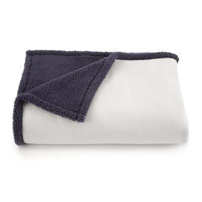 Vellux Shearling Throw Color: Ivory/Ombre Blue