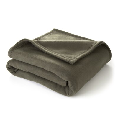 Vellux Martex Super Soft Polyester Fleece Throw Blanket - Size: Twin, Color: Basil