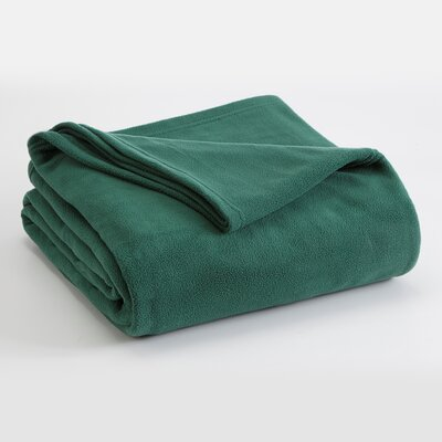 Vellux Polyester Fleece Throw Blanket - Size: King, Color: Hunter Green at Sears.com