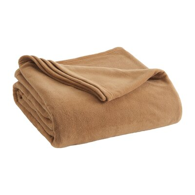 Vellux Fleece  Blanket Color: Tobacco Brown, Size: Full/Queen