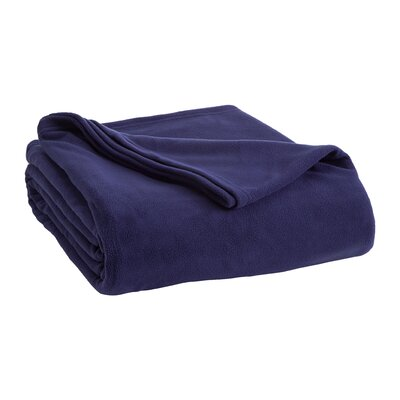 Vellux Fleece  Blanket Color: Navy Eclipse, Size: Full/Queen
