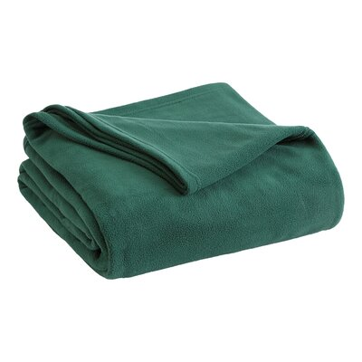 Vellux Fleece  Blanket Color: Hunter Green, Size: Twin