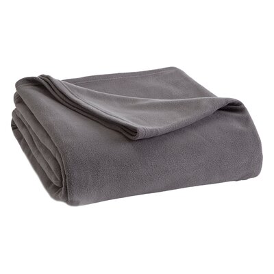 Vellux Fleece  Blanket Color: Tornado Gray, Size: Full/Queen