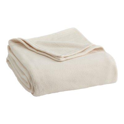 Vellux Fleece  Blanket Color: Winter White, Size: Full/Queen