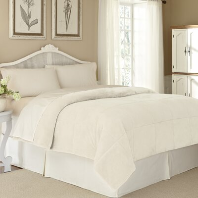 Vellux Plush Lux Blanket Size: Full / Queen, Color: Ivory