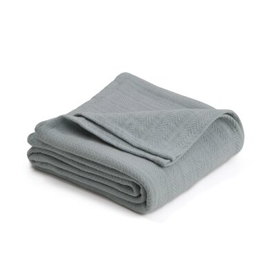 Vellux Woven Cotton Blanket Size: Twin, Color: Gray Mist