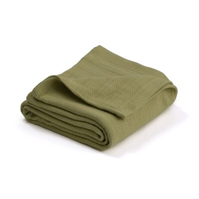 Vellux Woven Cotton Blanket Color: Winter Pear, Size: King
