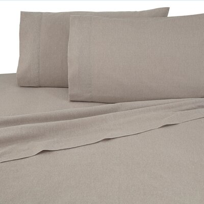 Flannel Sheet Set Color: Caramel, Size: King