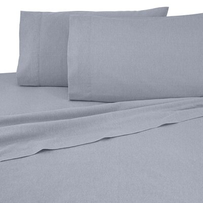 Flannel Sheet Set Color: Gray, Size: King