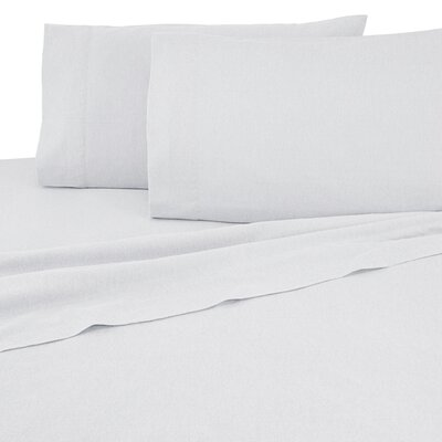 Flannel Sheet Set Color: Ivory, Size: Twin
