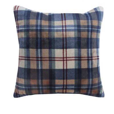 Ethan Plush Sherpa Plaid Throw Pillow