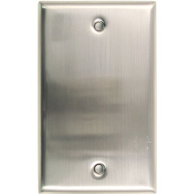 Single Blank Switch Plate (Set of 5) Finish: Satin Nickel