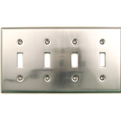 Quad Switch Plate Finish: Satin Nickel